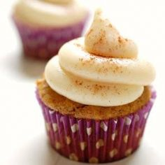 Sweet potato cupcakes are good, but the brown butter cream cheese frosting is what puts them over the top!