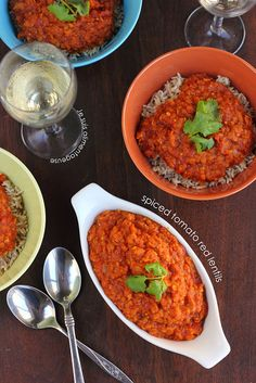 Spiced Tomato Red Lentils - Alimentageuse