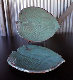 Hosta Plates - Jon Loer 2013 - earthenware