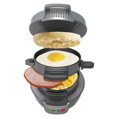 I think I need one of these. yummy breakfast i bed, beach breakfast, breakfast sandwiches, on the go breakfast ideas, breakfast sandwich maker