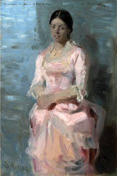 Peder Severin Krøyer (Danish painter) 1851 - 1909 Portrait of Frederikke Tuxen, 1882 oil on panel