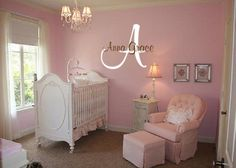 Child's monogram wall  decal