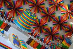 party backdrops, rainbowparti, birthday parties, birthdays, rainbow parti, rainbow birthday, color parti, beauti backdrop, parti idea