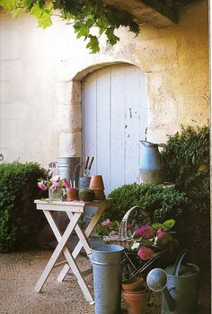 metal, potting sheds, little gardens, potting tables, potting benches, door, garden live, small spaces, craft rooms