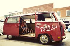 The Photo Bus: An Old Volkswagen Bus Converted into a Mobile Photo Booth