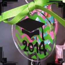Graduate Keychains!  Choose your colors and put in the comment if the year needs to be changed!