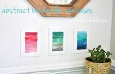 watercolor canvases