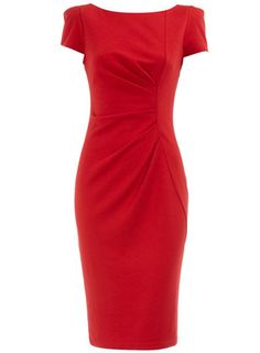 Dorothy Perkins  Red drape shift dress  £29.50