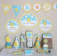 Rubber Ducky Duckie Birthday Printable DIY Do by stockberrystudio printabl diy, birthday parties, birthday printabl, rubber ducki, shower idea, ducki ducki, babi shower, birthday ideas, baby showers