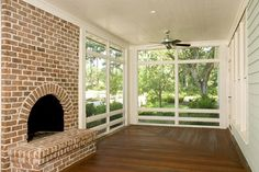Awesome screened porch with fireplace