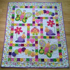pattern, baby quilts, babi quilt, bug quilt, babi bug, appliqu