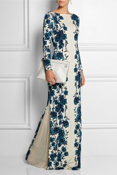 Tory Burch|Stacy floral-print jersey maxi dress