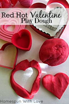 Red Hot Valentine Play Dough