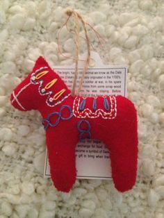 Dala Horse (Dala Häst) Christmas Tree Ornament.