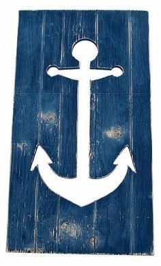 Navy Anchor Cutout Wall Art
