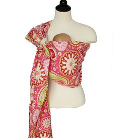 Baby Carrier Ring Sling Baby Sling  Pink Paisley  by SnuggyBaby, $49.00