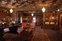 libraries, googl search, hearst castle, theater rooms, interiors