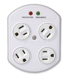 If you've ever faced the frustration of not being able to fit two bulky plugs into a standard outlet at once, this is the device for you. Simply plug it into any wall outlet and it provides four grounded (three-prong) outlets that swivel a full 360 degrees. That means you can rotate a plug until it plays nicely with the other plugs around it.