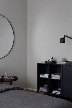 Calm, grey bedroom