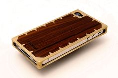 Amazing EXO10 iPhone 4 or 4S Case Solid Brass and Pau by EXOvault, $165.00