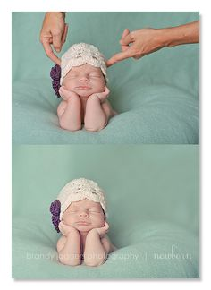 Newborn Posing - How To. It's all Photoshop so don't put your kids in danger
