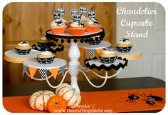 chandelier cupcake stand for Halloween