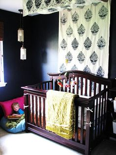 Create A Stenciled Canopy From A Dropcloth