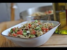 Skinny Pasta Recipe - Light, Fresh and Yummy (This is also called Skinny Girls Pasta but Guys can eat it too! It has all the nutrients and yumminess the male body needs.) It's a wonderful wholesome one dish wonder!