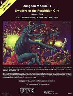 I1 Dwellers of the Forbidden City (1e) | Book cover and interior art for Advanced Dungeons and Dragons 1.0 - Advanced Dungeons & Dragons, D&D, DND, AD&D, ADND, 1st Edition, 1st Ed., 1.0, 1E, OSRIC, OSR, Roleplaying Game, Role Playing Game, RPG, Wizards of the Coast, WotC, TSR Inc. | Create your own roleplaying game books w/ RPG Bard: www.rpgbard.com