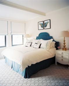 Love the accent of Applique bed linens....