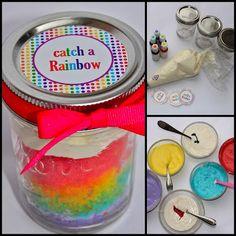 Rainbow Cupcake In Mason Jar...
