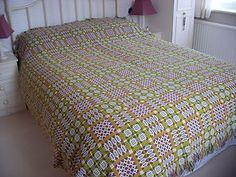 Vintage Antique Welsh Wool Blanket.