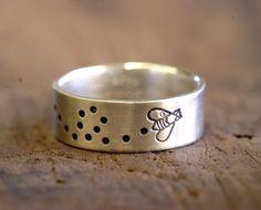 Sterling Silver Bumblebee Ring bumble bee by monkeysalwayslook