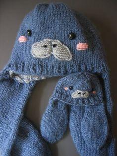 Manatee Hat Knitting Pattern  Cute Animal Hat by eluneth on Etsy, $4.00