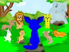 The blue jackal holds court - animal stories for kids blue jackal, hold court, kid