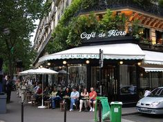 Café de Flore, Paris  #cafe #coffeeshop #café