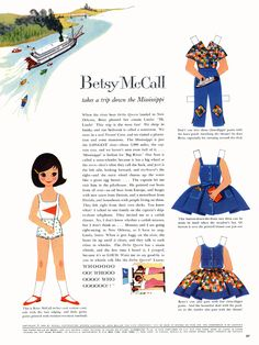 Betsy McCall Paper Dolls 1960 free printable