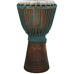 Mahogany and Blue Rope Professional Level Djembe Drum (Indonesia)