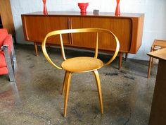 George Nelson Pretzel Chair, 1952 via openairmodern: Made of laminated birch. #Chair #George_Nelson_Pretzel_Chair