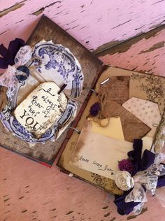 Create Scrap Book Design for Guest Signing Vintage Wedding Guest book