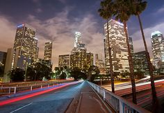 Downtown Los Angeles at night <--yes! it's gorge! ♥ #LA #travel #California #AccorBucketList