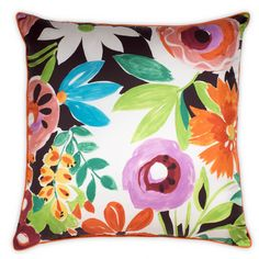 Collier Campbell's Tangerine Big Flower Floor Cushion