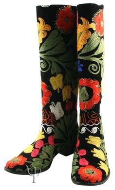 hand stitched Suzani Boots