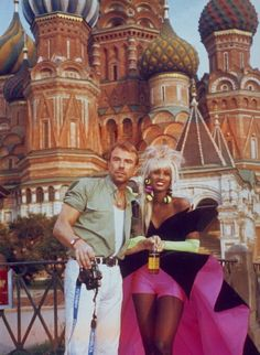 Iman in Russia with Thierry Mugler, 1988