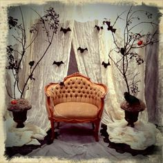 Halloween Photo backdrop my daughter and I designed for her photography studio,for their annual Halloween Kids shoot, for  Eleakis & Elder Photography Studio in Sacramento, Ca.