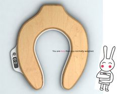 This toilet seat tells you how much weight that you just lost. WHAT?!