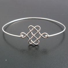 Celtic Knot Bracelet - Silver, Celtic Bangle, Celtic Knot Jewelry, Celtic Jewelry, Irish Bangle, Scottish Jewelry, Knot, Celtic Bracelet. $14.95, via Etsy. Celtic Knot Bracelets, Celtic Bracelets, Celtic Bangles, Celtic Knots, Knots Bracelets, Bangles Bracelets, Celtic Jewelry, Knots Jewelry, Bracelets Bangles