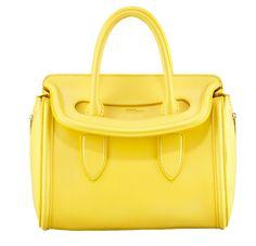 CHROMA-ZONE - Alexander McQueen's bold yellow Heroine for a burst of happiness. designer handbags
