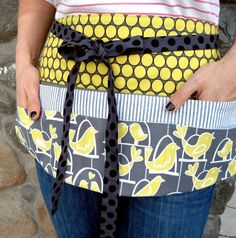apron for money and phone at craft fair