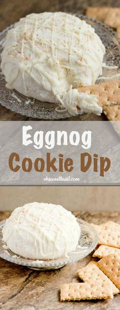eggnog cookie dip - Maybe even use real rum! -